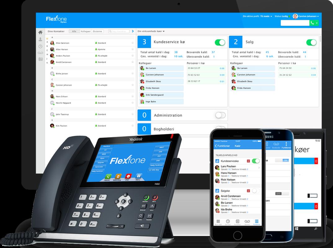 Flexfone telefoni og internet